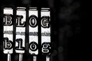 typewriter keys spelling out word Blog