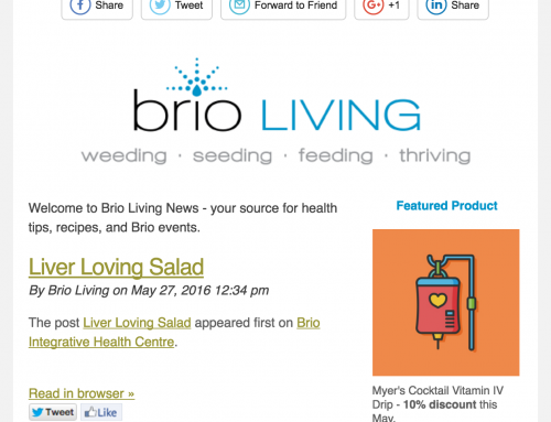 Brio Living Newsletter