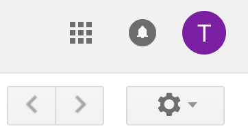 gmail settings icon