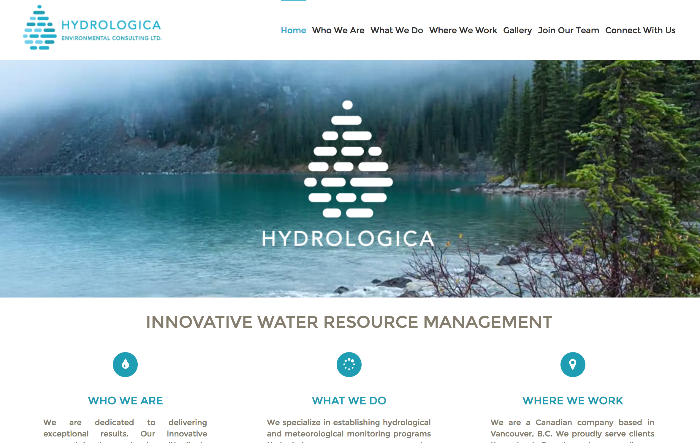 Environmental Consulting site built with Wordpress