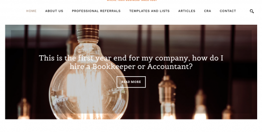 Accounting and Bookkeeping Website