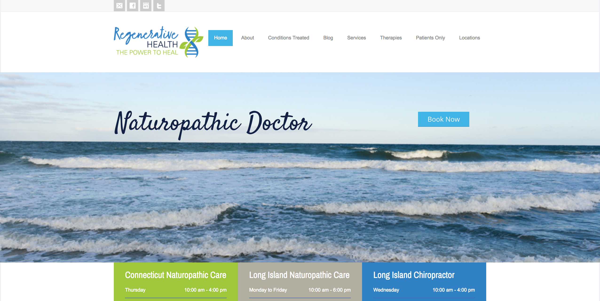 health clinic website