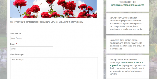 working contact form